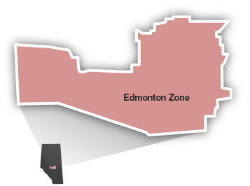 Edmonton Zone map