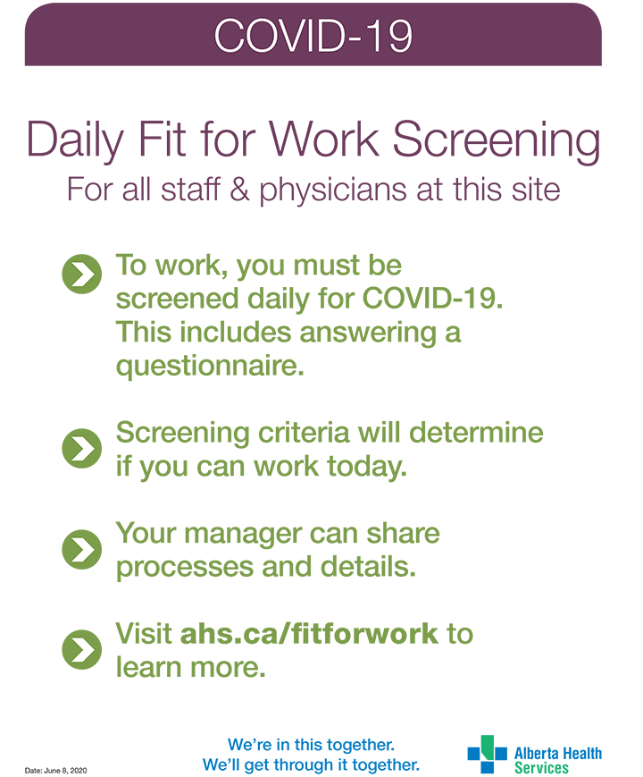 Fit for Work Screening